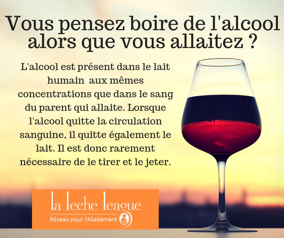 allaitement et alcool LLL