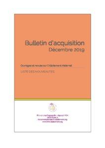 thumbnail of Bulletin d'acquisition Décembre