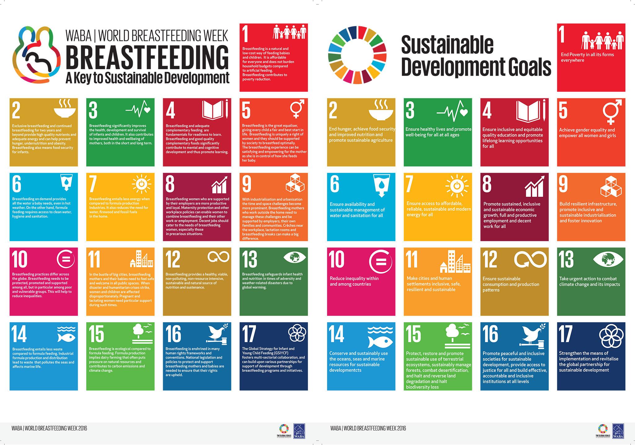 relation allaitement et objectifs développement durable